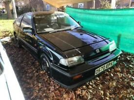 Honda Civic CRX Coupe mk1 1985 black standard unmolested 1.6 dohc manual