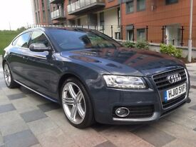AUDI A5 2.0 TDI S LINE SPORTBACK 2010 5dr FULL SERVICE HISTORY EXCELLENT EXAMPLE PX WELCOME