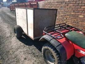 Quad atv livestock trailer very good tyres