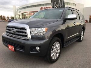 2012 Toyota Sequoia Platinum - Fully Loaded, Low Kms! Huge Size!
