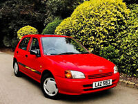 **AUTOMATIC+5DOOR** TOYOTA STARLET 1.3 CD AUTO + 1/F PENSIONR OWNR + 1 YEARS MOT + LOOKS&DRIVES WELL