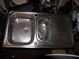 Stainless Steel Bowl And Half Inset Sink Top / utility Top Weymouth