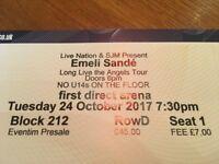 Emeli Sande Leeds First Direct Arena 24th October