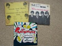 RARE 3 Beatles Xmas Fan Club flexi records 1,2 & 4 (1963,64,66 I think)
