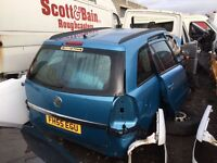 Vauxhall Zafira petrol 2006 year manual spare parts