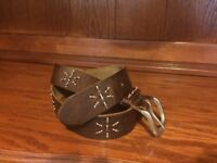 White Stuff brown leather belt