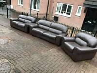 3 2 1 seater Sofa in a Sofa brown leather Hyde