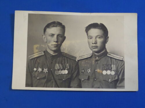 soviet russian photo Officer participant WW2 order medal Red Star Army USSR