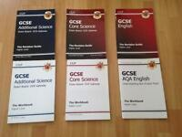GCSE revision books for Science and English