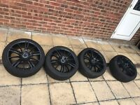 Genuine BMW 18 inch Alloy Wheels E90 E92 E93 x 4 with tyres