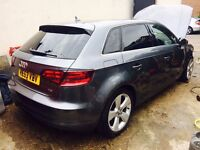 2013 Audi A3 Sport 2.0 TDi Sportback 63reg SAT NAV Leather Salvage Damaged Repairable a1 s line