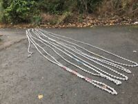 90 meters x 10 mm galvanised calibrated anchor chain