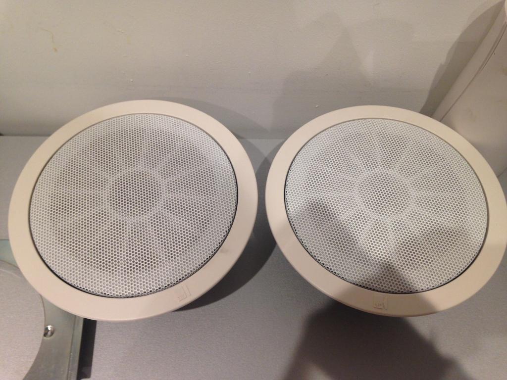 Kef Ci130q Ci 130 Q In Ceiling Flush Mount Speakers Pair Surround Sound 5 1
