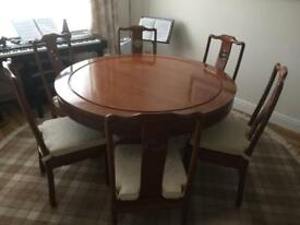 Solid Rosewood dining table & sideboard