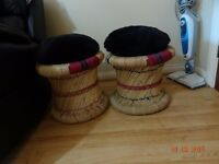 Handwoven Sitting Stools with 2x FREE cushions