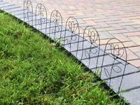 Garden Decorative Wire Edging 35 feet in total 24 individual pieces