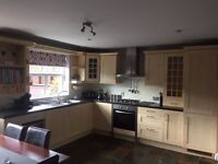Kitchen and Utility For Sale - includes oven, hob, extractor fan, sinks and taps