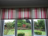 Red roller blinds x 2