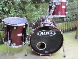 Mapex Saturn Drums Shell Pack (13/16/22) + Protection Racket Cases