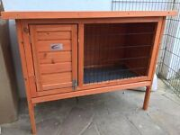 Small Rabbit or Guinea Pig Wooden Hutch (Good Condition) - £15