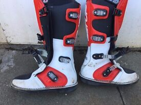 junior adult motorbike off road boots size 8