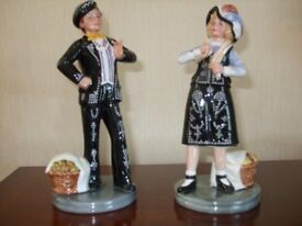 ROYAL DOULTON 'PEARLY BOY & GIRL