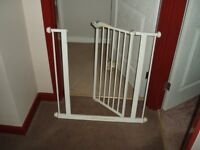 White Stair Gate/Guard - Child Safety also Dog Management.
