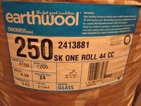 Roll of Knaufinsulation Earthwool loftinsulation 250mm thick