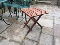 Teak Folding Drinks Table Height 20in/52cm Width 20in/52cm Depth 20in/52cm