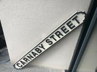 Carnaby Street Wooden Sign
