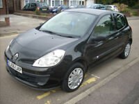 2006 56 REG RENAULT CLIO EXPRESSION 1.2 3 DOOR NEWER SHAPE MK3 BLACK EXC.CON.