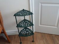 3 tier cast iron pan stand