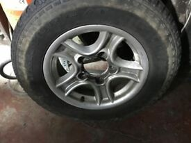 4 x Alloy wheels with tyres