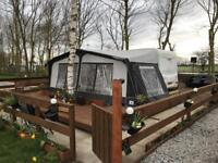 6 berth Abi freestyle 560 with caravan sited on loverly plot