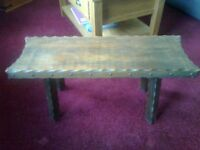 solid hard wood low table/stool