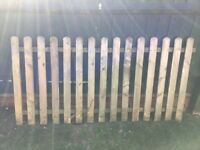 Picket Fence panel and matching gate
