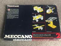 Boxed vintage meccano