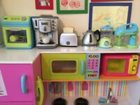 Wooden children's play kitchen