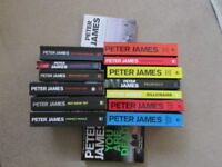 15 x Peter James paperbacks. Buyer collects..