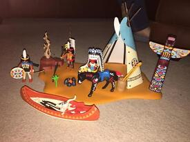 Playmobil Native American camp