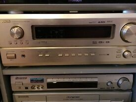 Denon model avr3803 gold very good condition with beautiful remote control for sale.