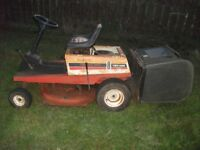 Ride on lawnmower mower tractor project spares or repair yardman 8 hp good deck gearbox and engine