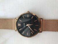 Women's Cluse Watch Gold metal strap with black face, only worn twice.