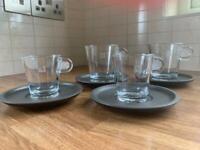 4 Nespresso cups & saucers