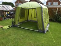 Vango air beam air hub green used only 3 times (as new) 3x3 metre