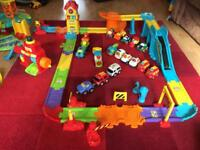 Vtech toot toot train track and garage