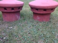 Chimney Pot Red X 2 of Terracotta Chimney Pots and Flue Terminals
