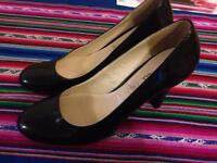 BRAND NEW M&Co size 6 Black Heels leather patent RRP £22