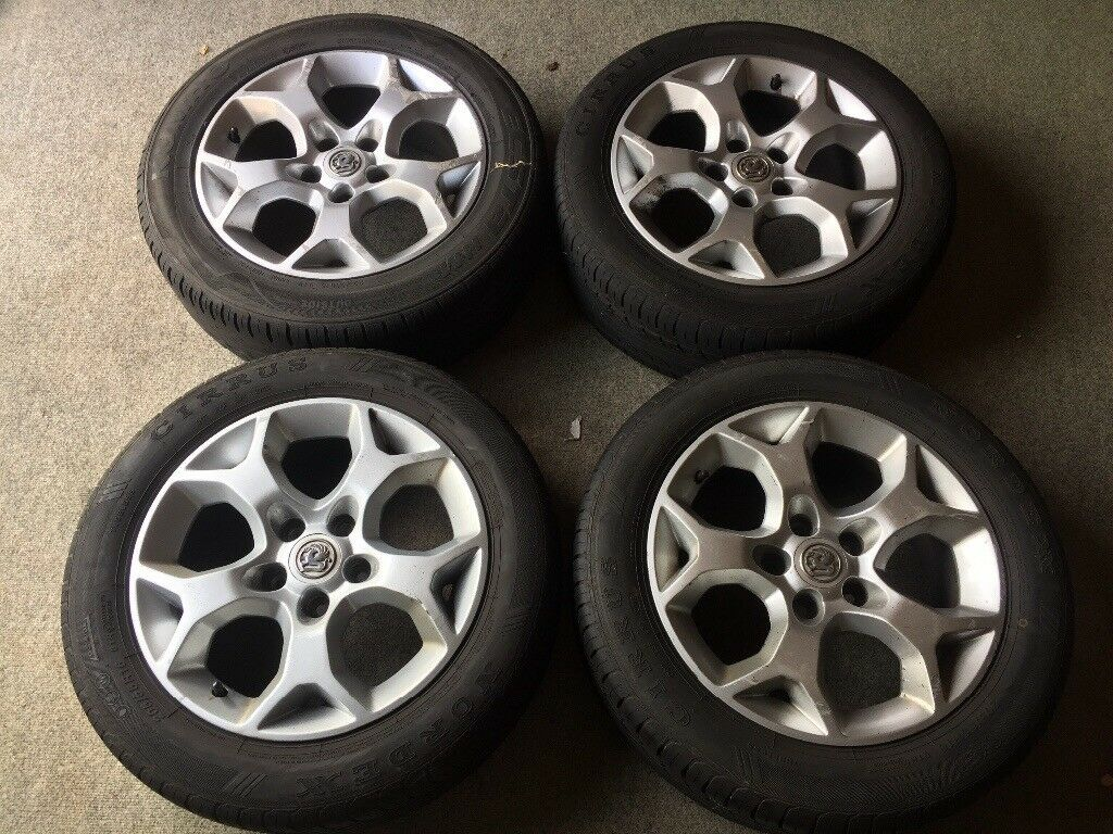 """4 Vauxhall 16"""" rims and tyres"""