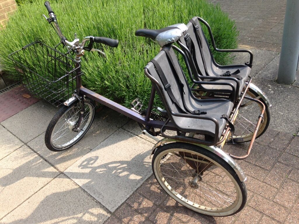 Vintage Pashley Tricycle With 2 Child Seats In Oxford